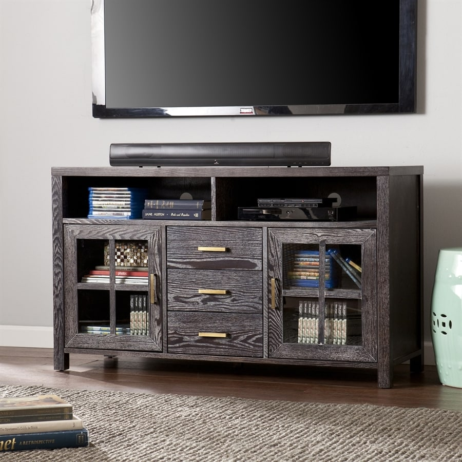 Boston Loft Furnishings Kenwright Dark Gray TV Cabinet