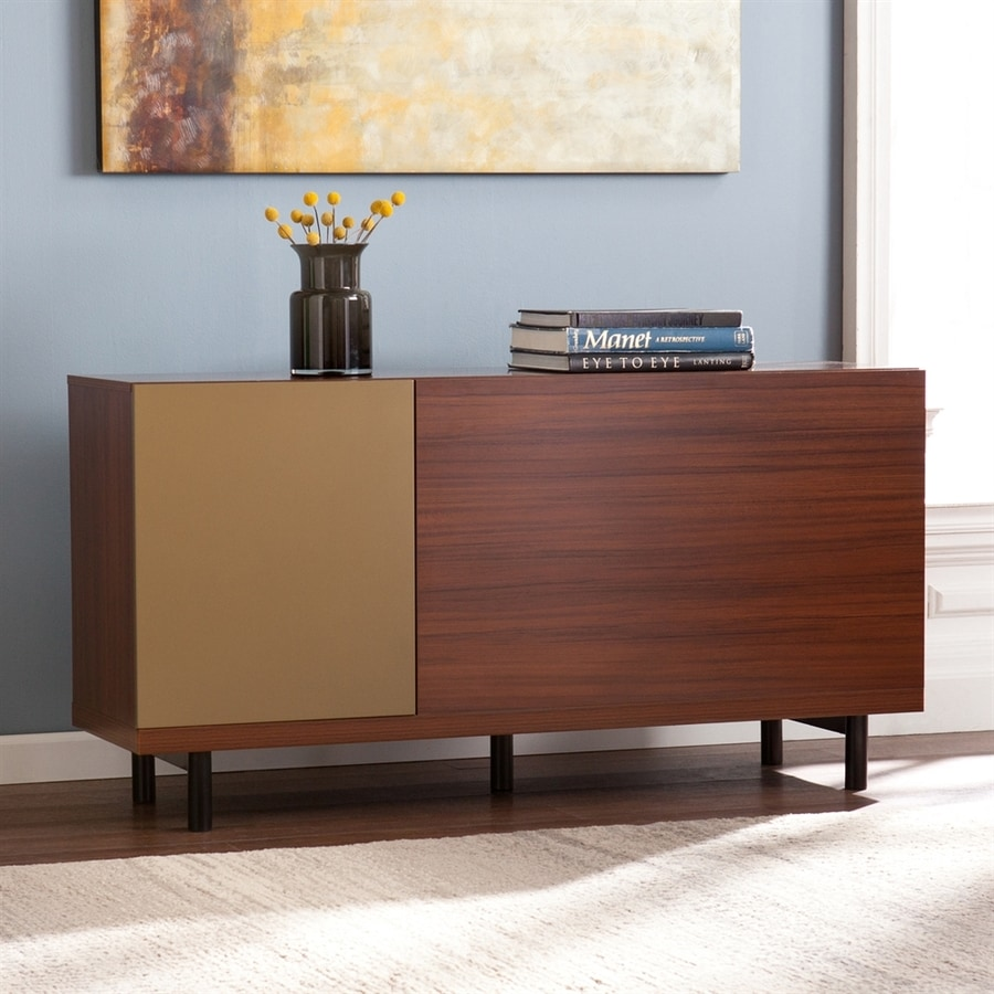 Boston Loft Furnishings Zander Walnut Rectangular Console and Sofa Table