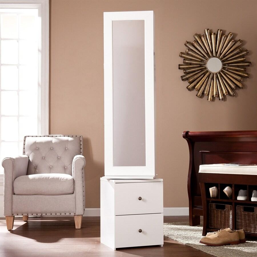 Boston Loft Furnishings Delvin White Floorstanding Jewelry Armoire