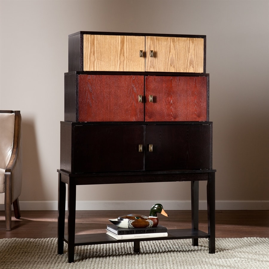 Boston Loft Furnishings Wayman Ebony/Espresso/Natural Oak Rubber Sideboard
