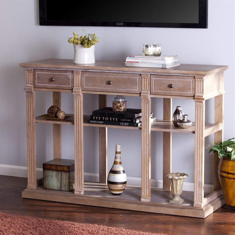 Boston Loft Furnishings Weathered Natural Pine Console Table