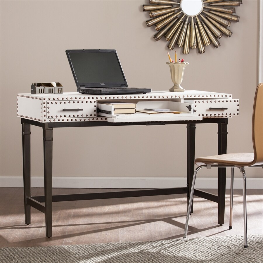 Boston Loft Furnishings Capex White/Black Laptop Desk