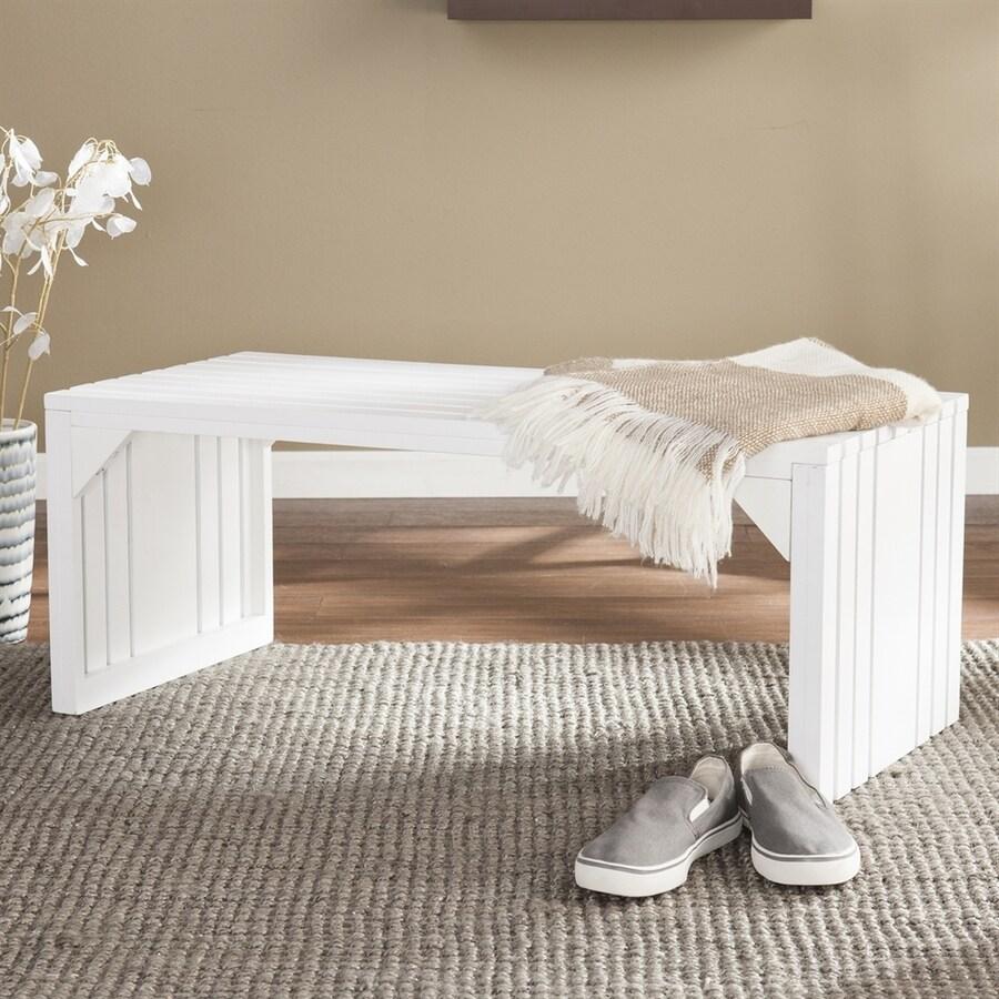 Boston Loft Furnishings Vance White Indoor Accent Bench