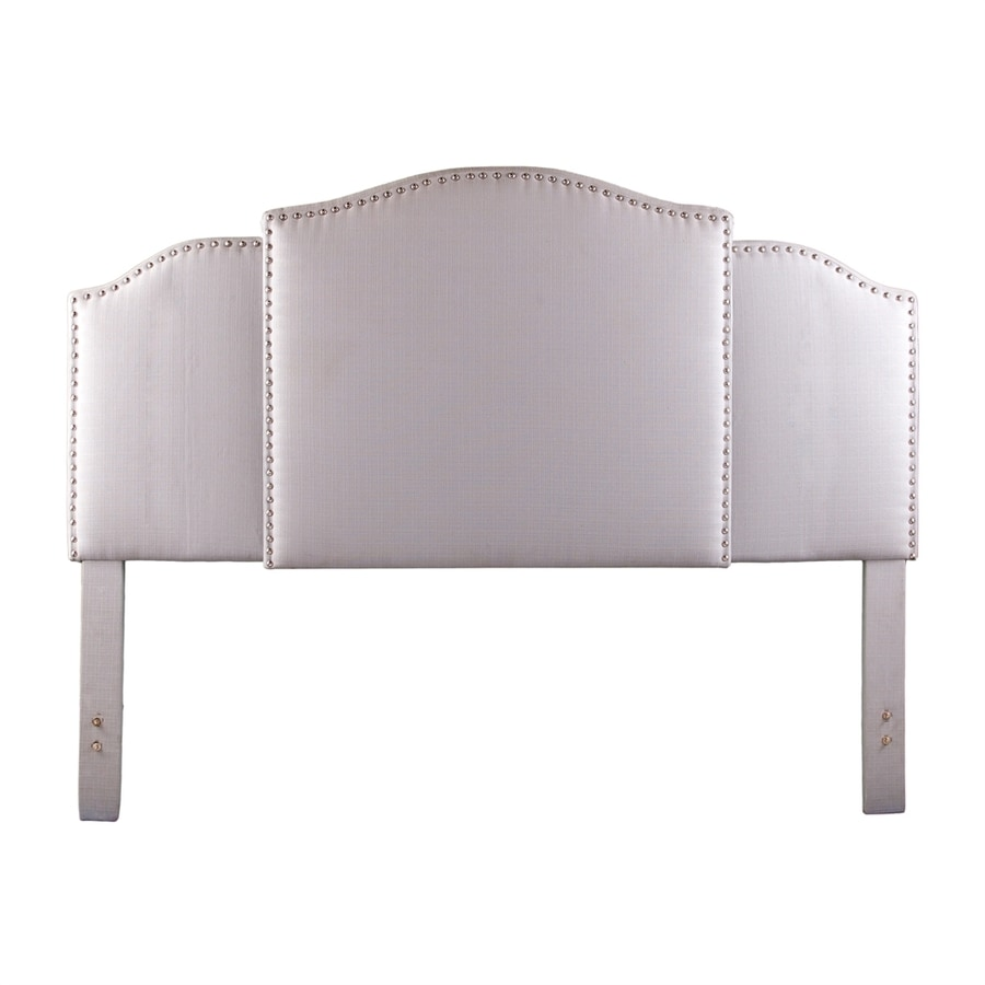 Boston Loft Furnishings Hemsley Light Gray Polyester Upholstered Headboard
