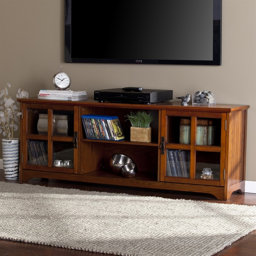 Boston Loft Furnishings Ramington Mission Oak TV Cabinet