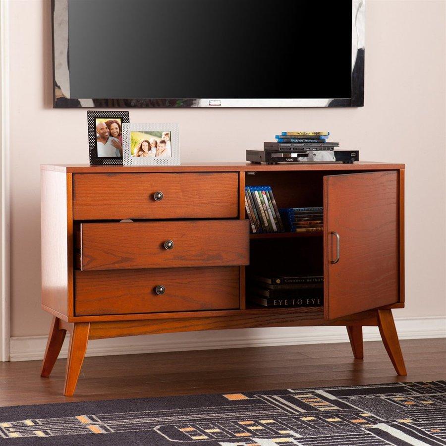 Boston Loft Furnishings Rayburn Warm Brown Mahogany Rectangular TV Cabinet