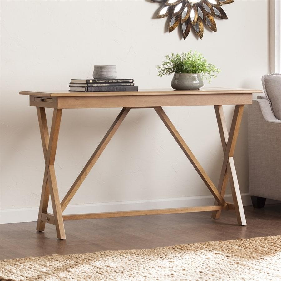 Boston Loft Furnishings Baratheon Weathered Oak Rectangular Console and Sofa Table