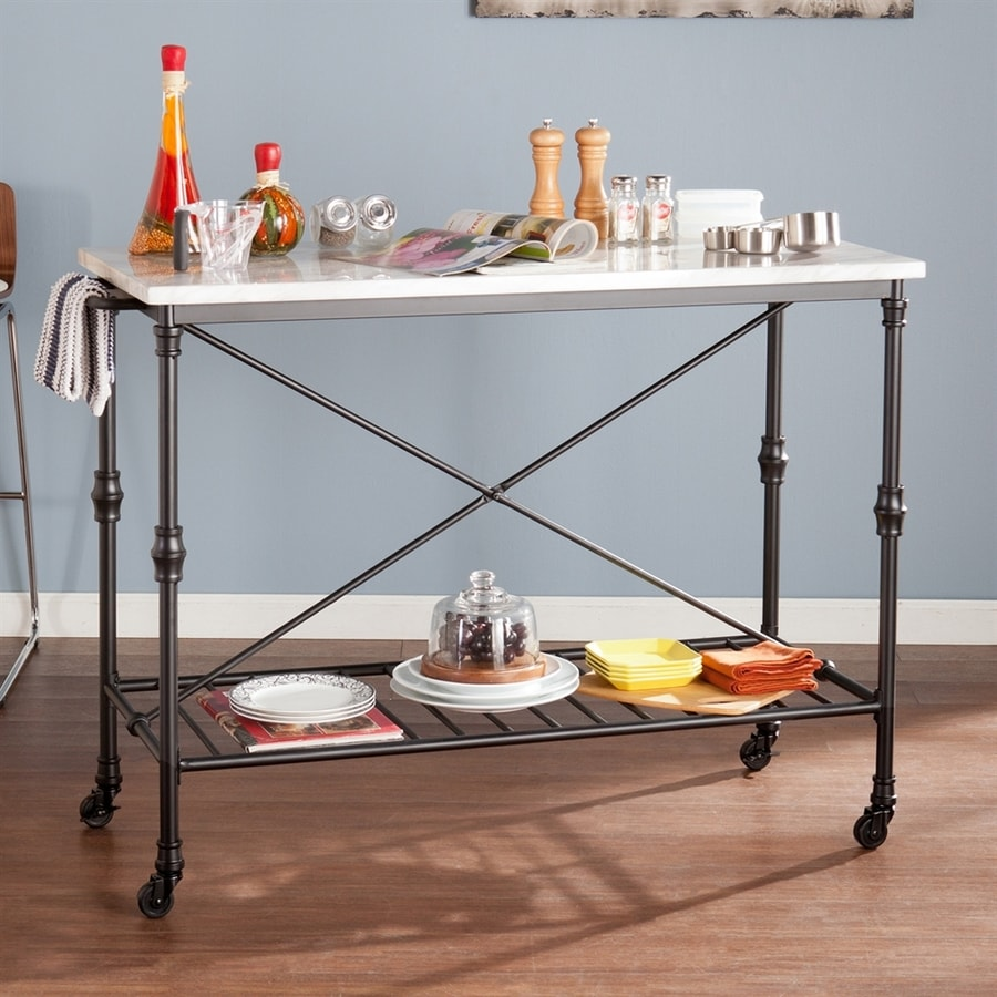 Boston Loft Furnishings Black Industrial Kitchen Cart at ...