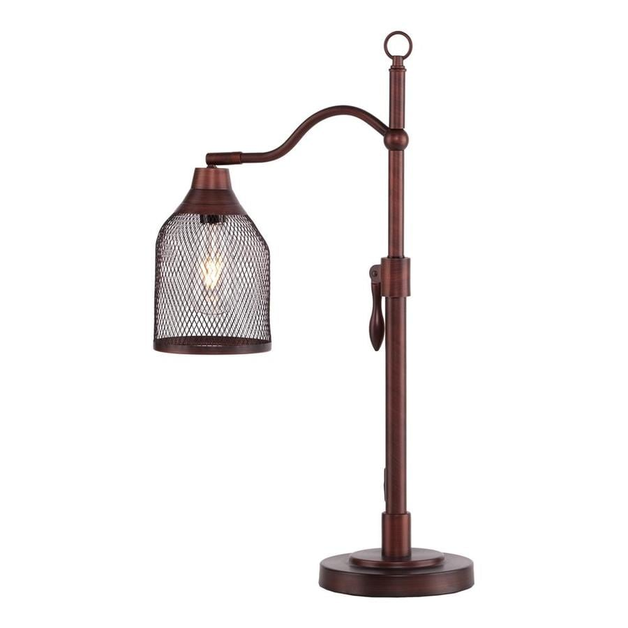 Boston Loft Furnishings Cogsworth 25.5-in Coppery Brushed Bronze Indoor Table Lamp with Metal Shade