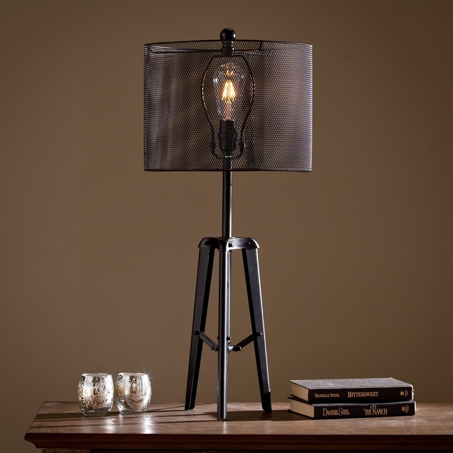 Boston Loft Furnishings Alderaan 39-in Black Indoor Table Lamp with Metal Shade