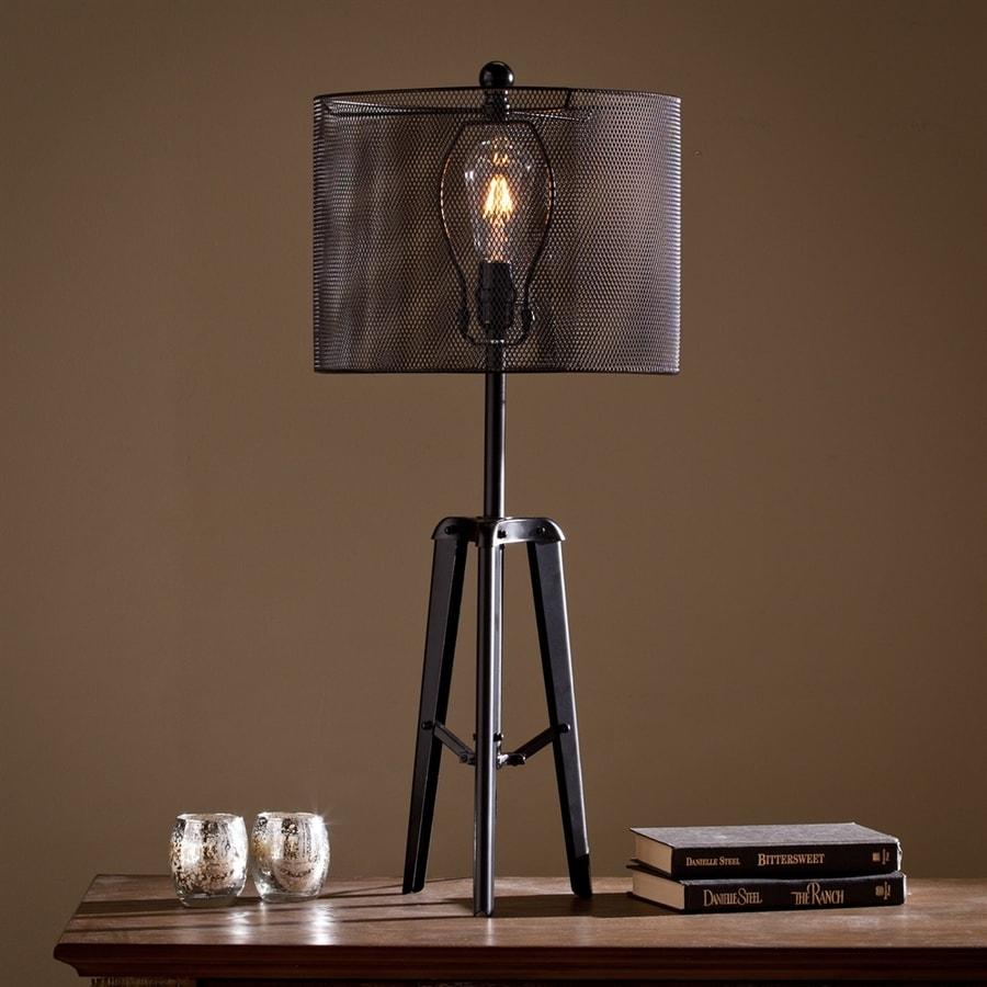 Boston Loft Furnishings Alderaan 39 In Black Indoor Table Lamp With Metal Shade