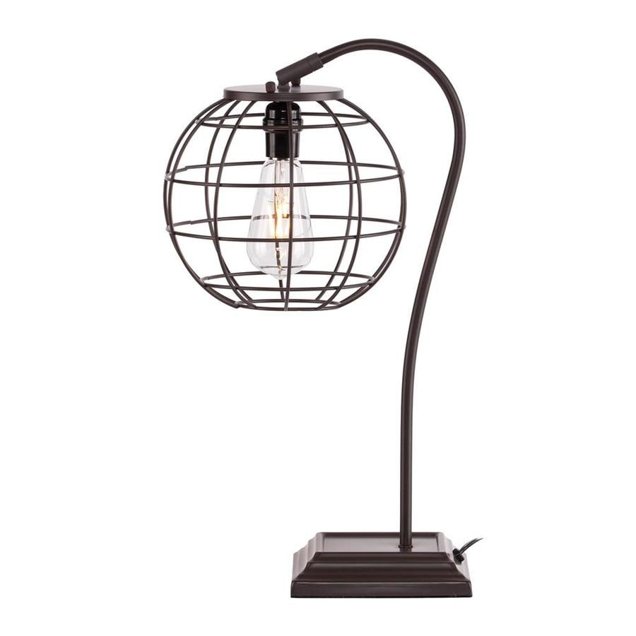 Boston Loft Furnishings Amethia 23-in Chocolate Indoor Table Lamp with Metal Shade