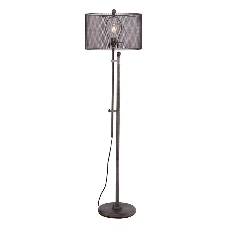 Boston Loft Furnishings Lasance 66-in Brushed Gunmetal Stick Indoor Floor Lamp with Metal Shade