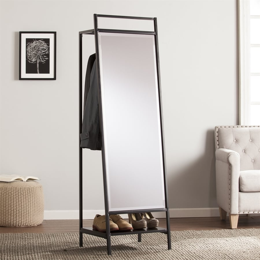 shop boston loft furnishings drappen black beveled floor mirror at  - boston loft furnishings drappen black beveled floor mirror