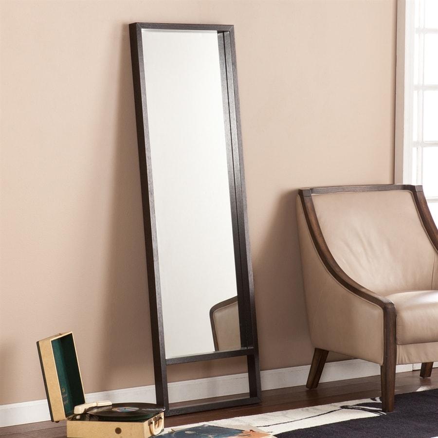 Boston Loft Furnishings Bray Ebony Beveled Rectangle Floor Mirror