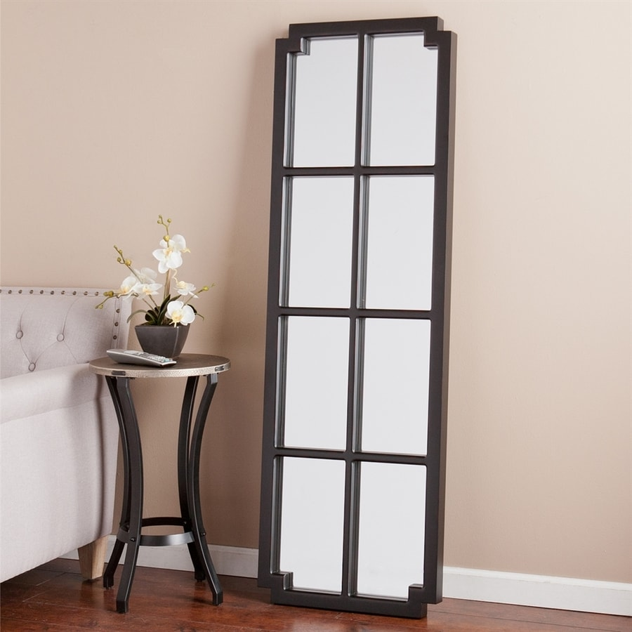 Boston Loft Furnishings Hera 20-in x 62-in Black/Rubbed Red Beveled Rectangle Framed Transitional Floor Mirror
