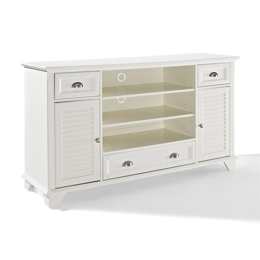 Crosley Furniture Palmetto White Rectangular TV Cabinet
