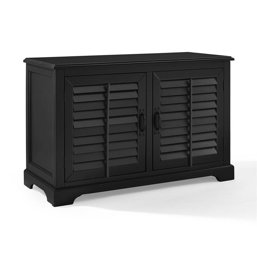 Crosley Furniture Sawgrass Black Rectangular TV Cabinet