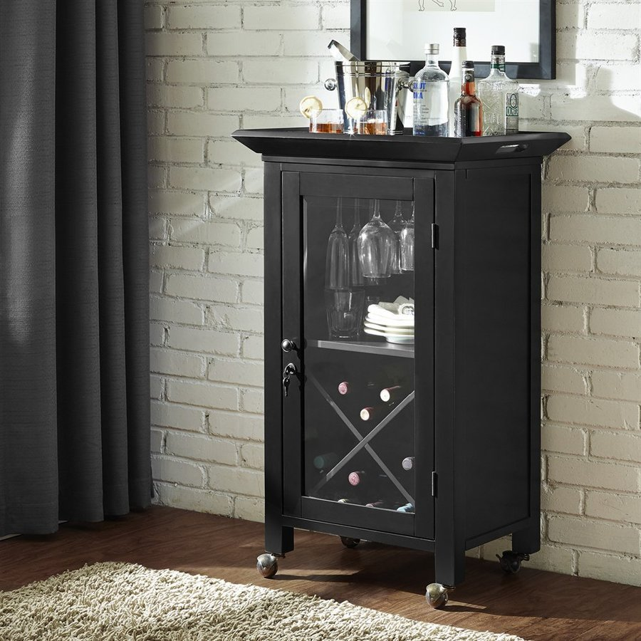 Shop Crosley Furniture Jefferson 24 In X 39 In Rectangle Mini Bar At