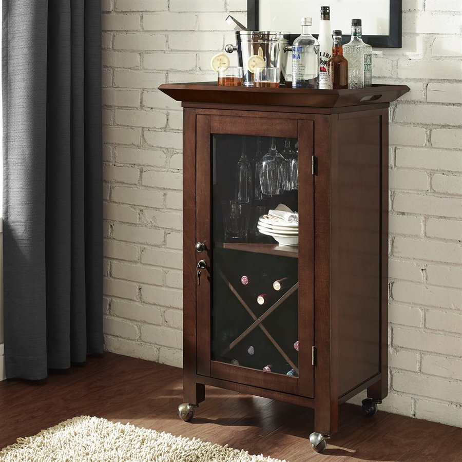 Shop Crosley Furniture Jefferson 24 In X 39 In Poplar Rectangle Mini Bar At