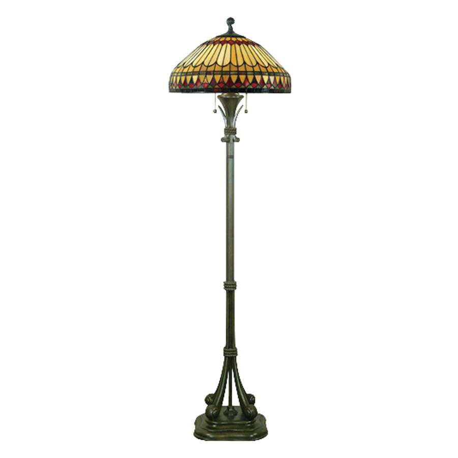 Quoizel West End 60 In Brushed Bullion Pull Chain Floor Lamp With