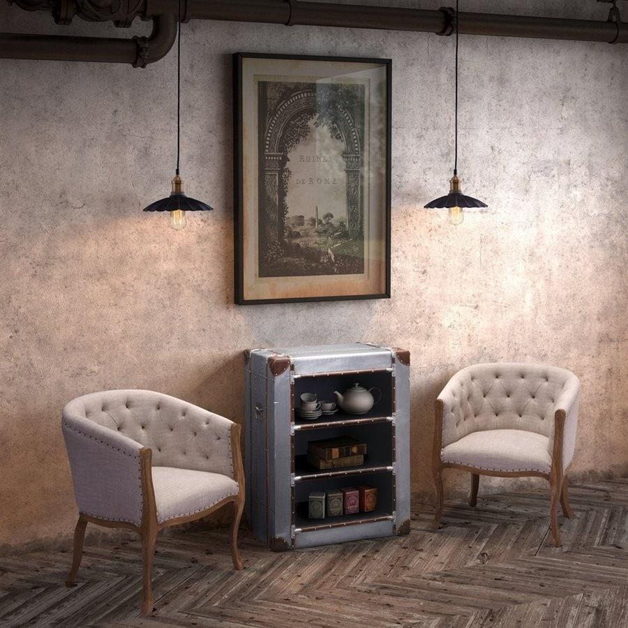 Zuo Modern Shotwell Beige Linen Arm Chair