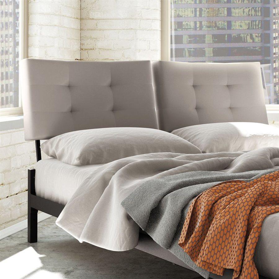 Amisco Delaney Warm Grey Queen Upholstered Headboard