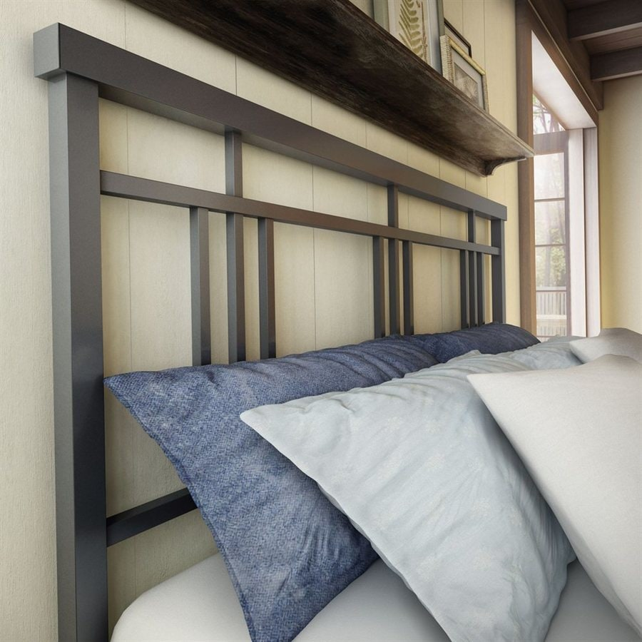 Amisco Cottage Matte Dark Grey Queen Headboard