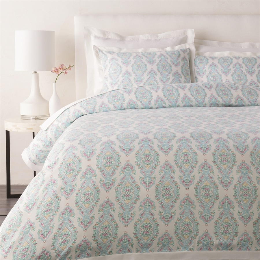 Surya Alia 3-Piece Aqua King Duvet Cover Set