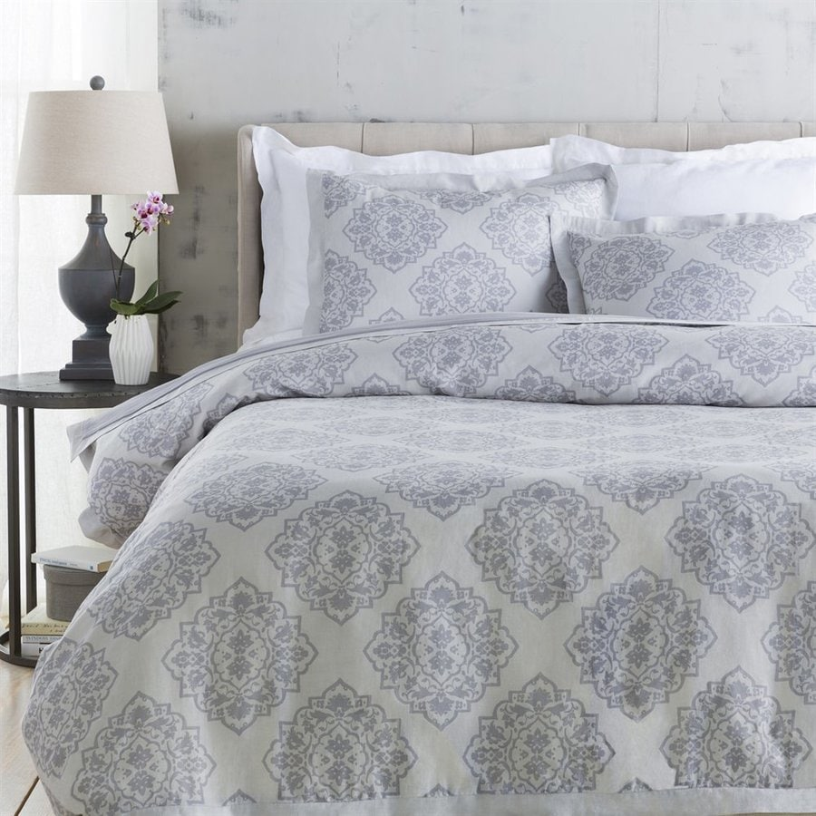 Surya Anniston 3-Piece Slate Full/Queen Duvet Cover Set