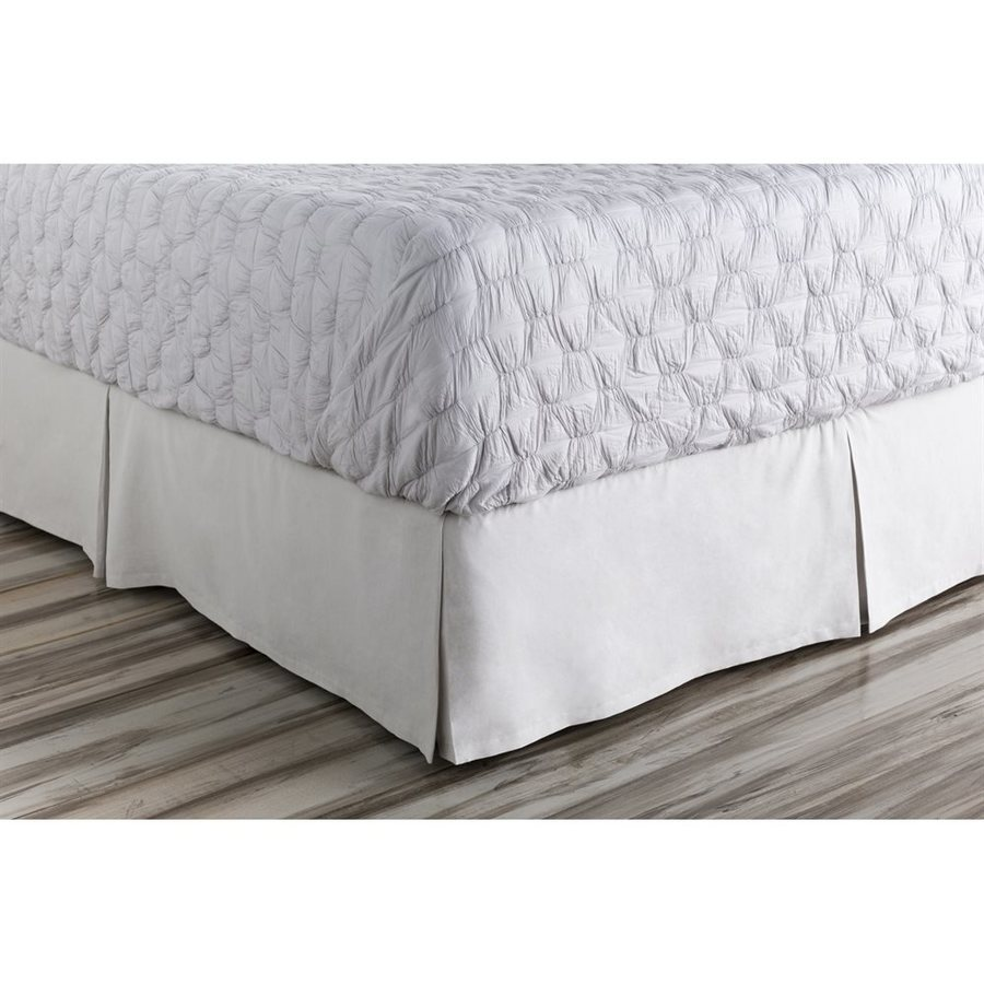 Surya Anniston Slate Twin 15-in Bed Skirt