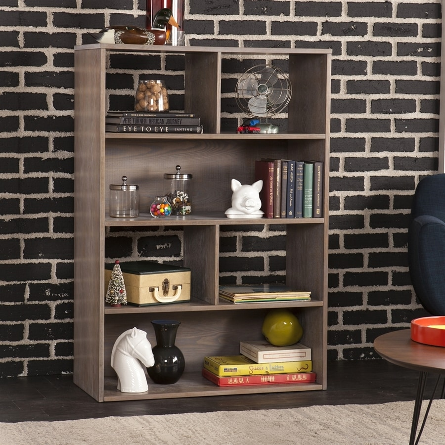 Holly & Martin Haza Burnt Oak 36-in W x 52-in H x 15.5-in D 6-Shelf Bookcase