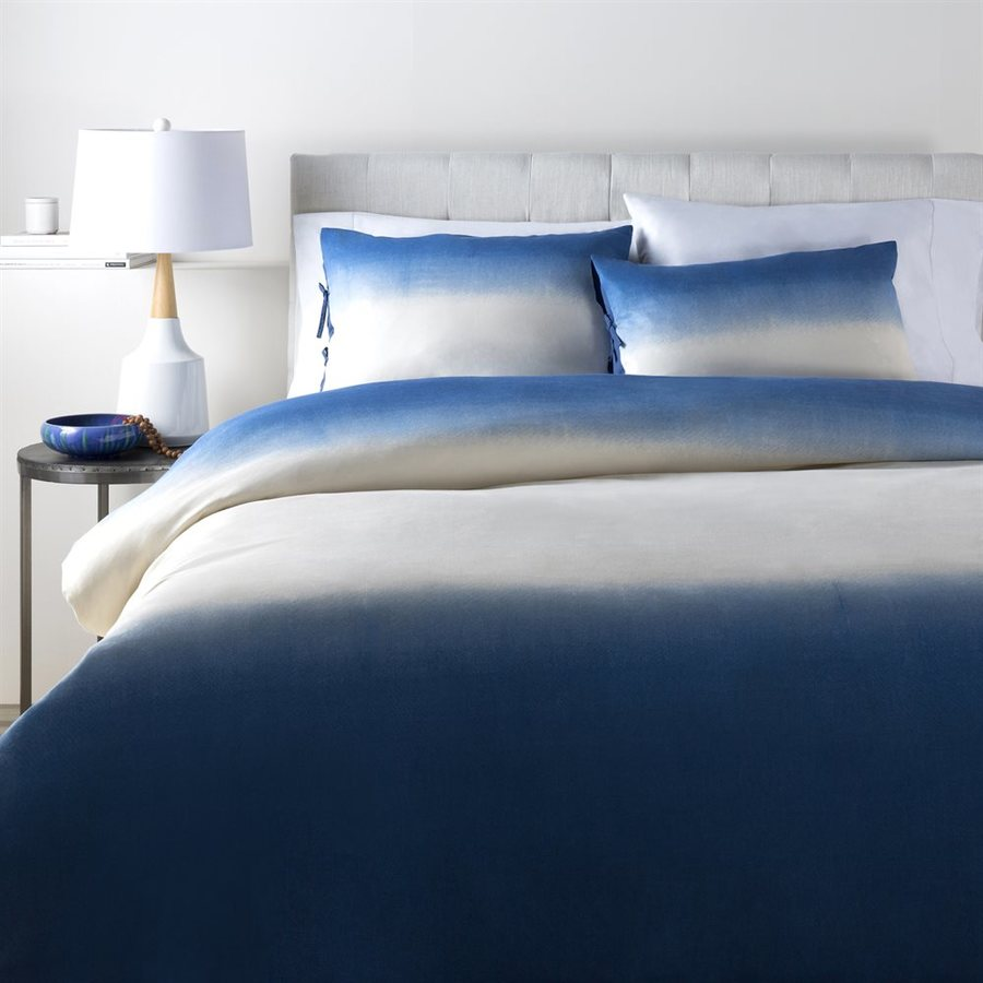 Surya Dip Dyed 2-Piece Navy Twin Duvet Cover Set