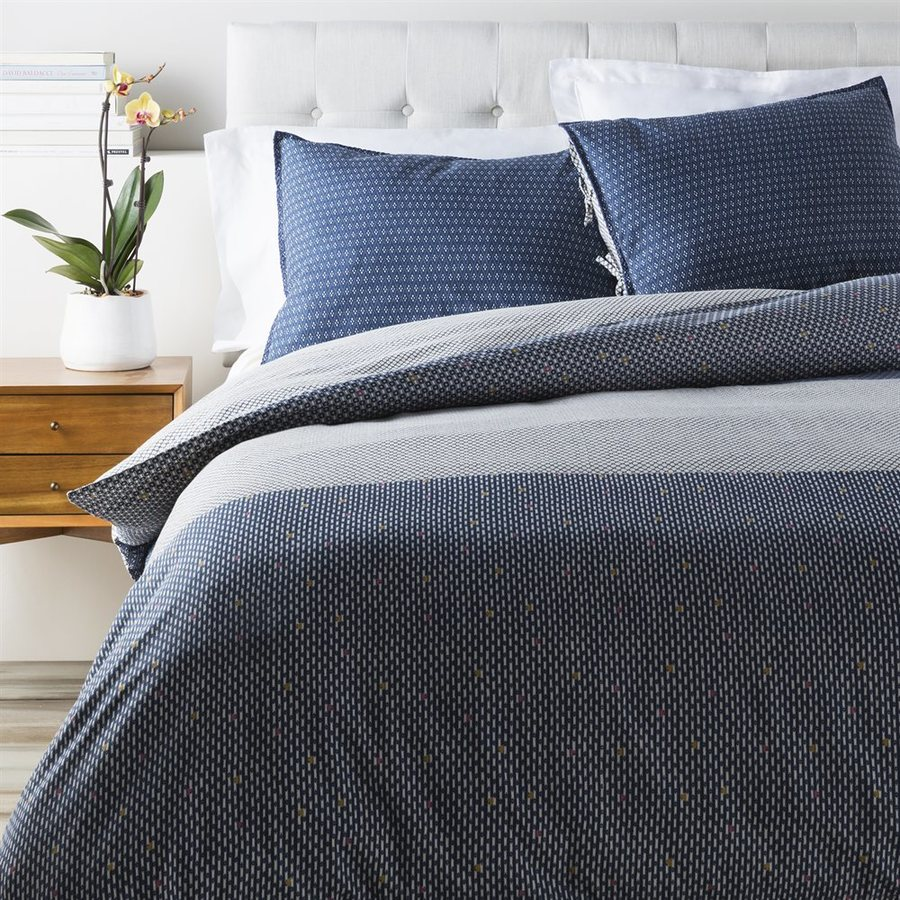 Surya Japiko Navy King Duvet Cover