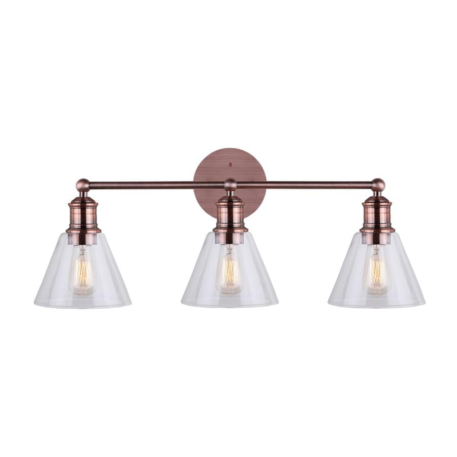 Canarm Larken 3-Light 10.25-in Bronze Bell Vanity Light