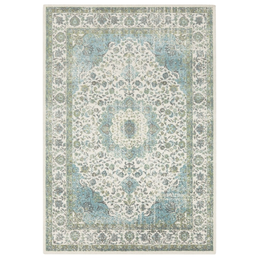 Shop Surya Aberdine Aqua Indoor Oriental Area Rug (Common