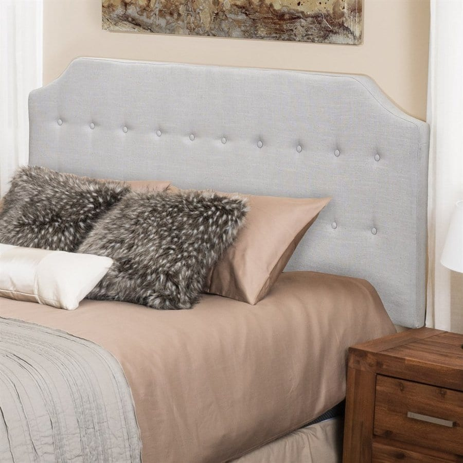 Best Selling Home Decor Lynnwood Mushroom Grey King/Cal King Linen Upholstered Headboard
