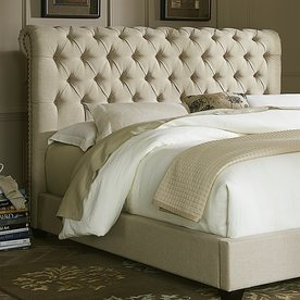 Liberty Furniture Chesterfield Natural King Linen Upholstered Headboard