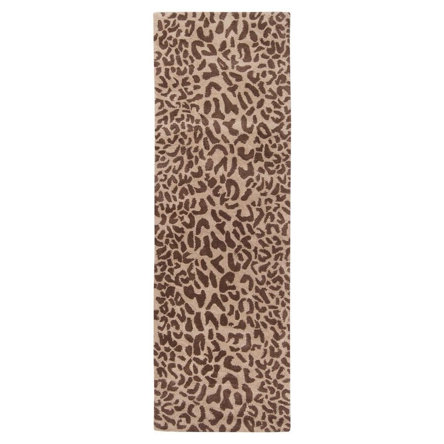 Surya Athena Tan Rectangular Indoor Tufted Animals Runner (Common: 3 x 12; Actual: 3-ft W x 12-ft L)