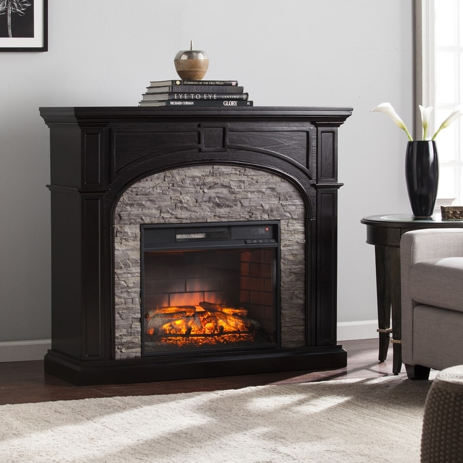 Shop boston loft furnishings w ebony multi hued Loft fireplace