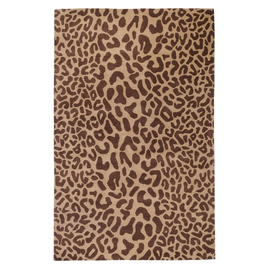 Surya Athena Tan Rectangular Indoor Tufted Animal Print Area Rug (Common: 7 x 9; Actual: 90-in W x 114-in L)