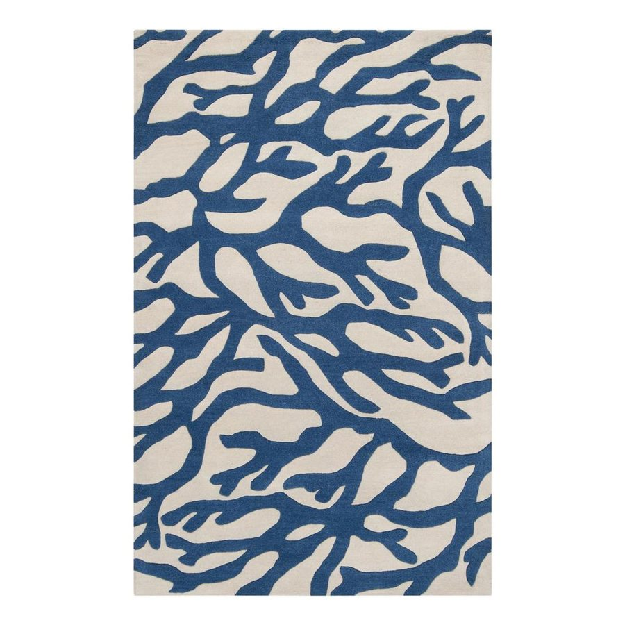 Surya Escape Dark Blue Rectangular Indoor Tufted Area Rug (Common: 2 x 3; Actual: 2-ft W x 3-ft L)