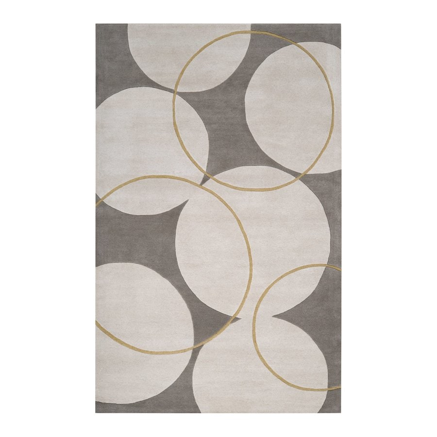 Surya Goa Beige Rectangular Indoor Tufted Area Rug (Common: 3 x 5; Actual: 3.25-ft W x 5.25-ft L)