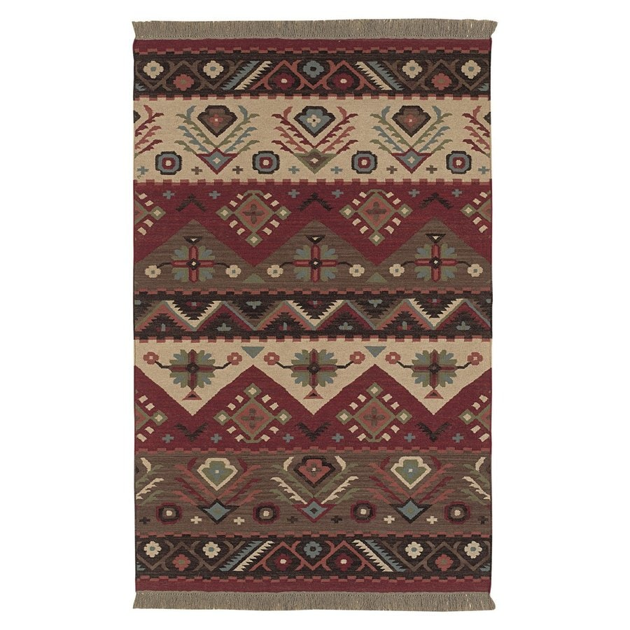 Surya Jewel Tone Rectangular Indoor Woven Southwestern Area Rug (Common: 2 x 3; Actual: 24-in W x 36-in L)