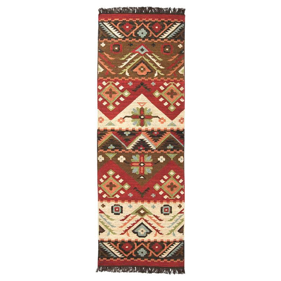 Surya Jewel Tone Rectangular Indoor Woven Southwestern Runner (Common: 2 x 8; Actual: 2.5-ft W x 8-ft L)