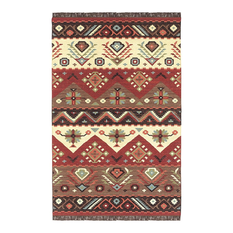 Surya Jewel Tone Rectangular Indoor Woven Southwestern Area Rug (Common: 5 x 8; Actual: 5-ft W x 8-ft L)