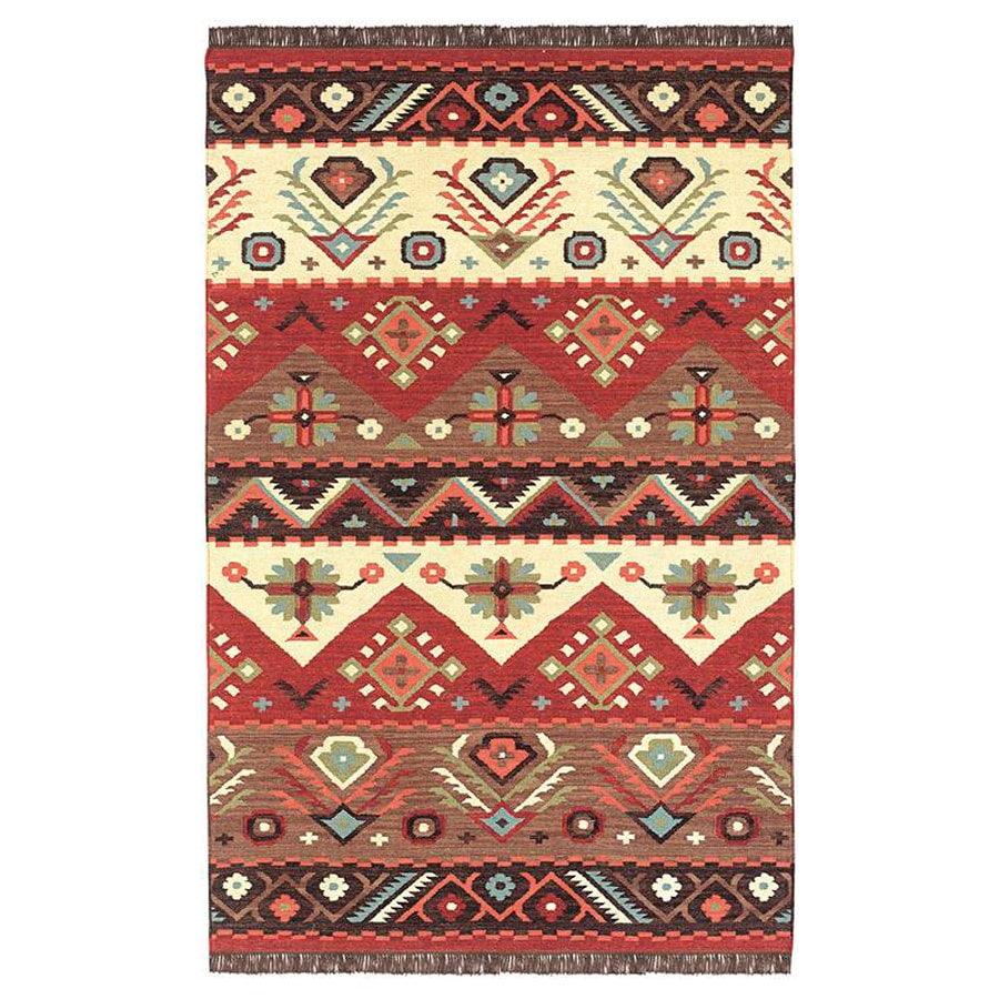 Surya Jewel Tone Rectangular Indoor Woven Southwestern Area Rug (Common: 9 x 13; Actual: 9-ft W x 13-ft L)