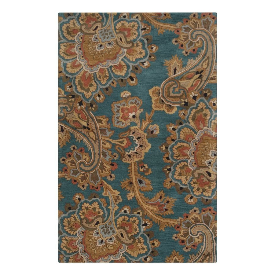 Shop Linon Moroccan Mekenes Camel Brown Rug: Surya Sea Blue/Brown Indoor Handcrafted Moroccan Area Rug