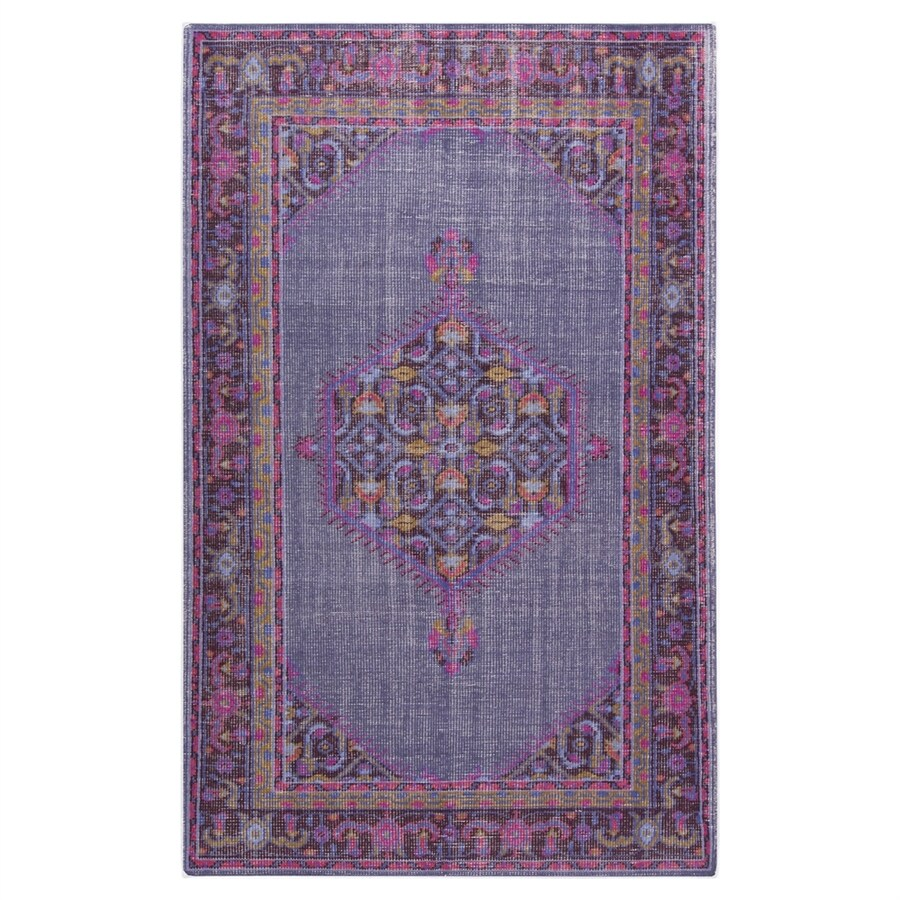 Surya Zahara Purple Rectangular Indoor Hand-Knotted Oriental Area Rug (Common: 3 x 5; Actual: 3.5-ft W x 5.5-ft L)