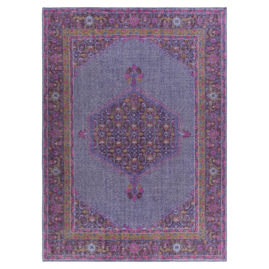 Surya Zahara Purple Rectangular Indoor Hand-Knotted Oriental Area Rug (Common: 8 x 11; Actual: 96-in W x 132-in L)